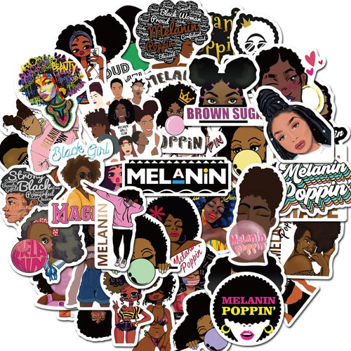 50 Piece Black Girl Magic Stickers