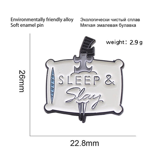 Sleep & Slay enamel Pin