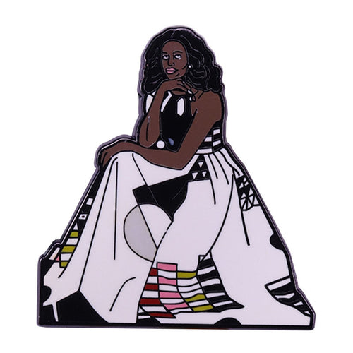 Michelle Obama Portrait Enamel Pin