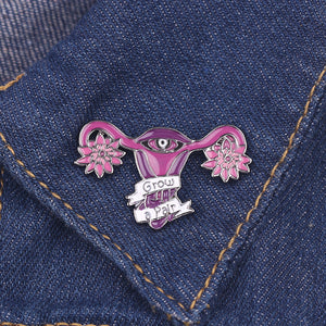 Grow a Pair Enamel Pin