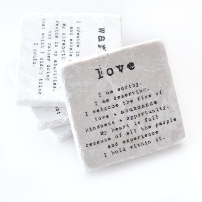 """LOVE"" MANTRA COASTER"