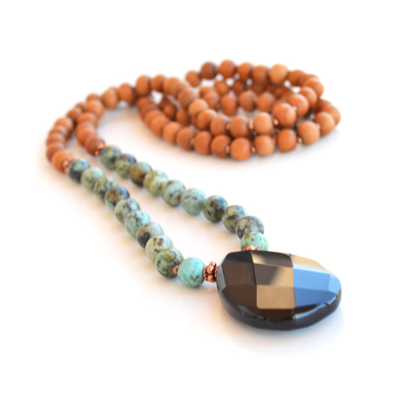 African Turquoise Meditation Necklace