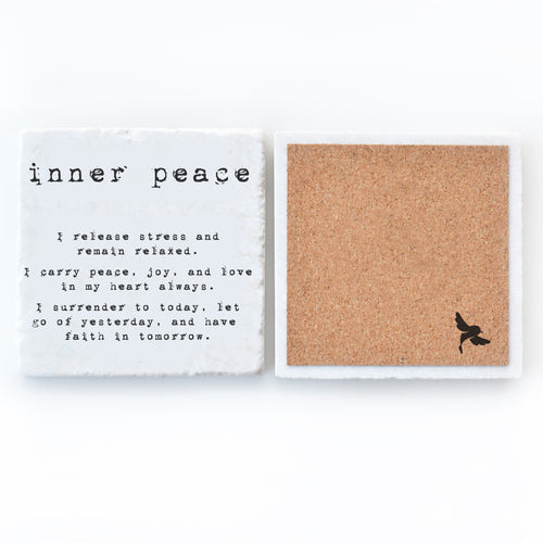 marble tile coaster inner peace meditation