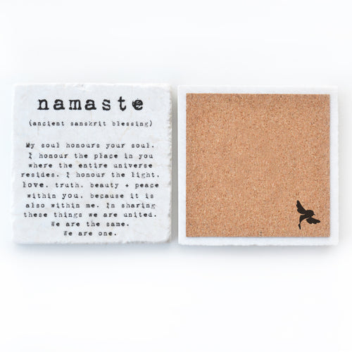 namaste drink coaster barware