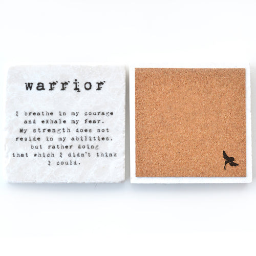 warrior survivor trivet gift coaster drink