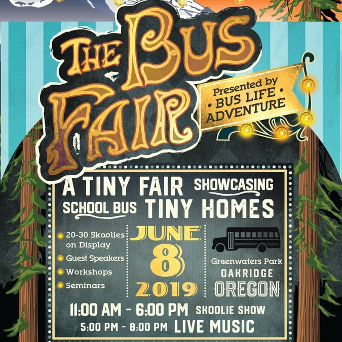The Bus Fair in Greenwaters Park Oregon June 8th 2019