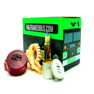sea shell pipe wood grinder weed bus cbd subscription box