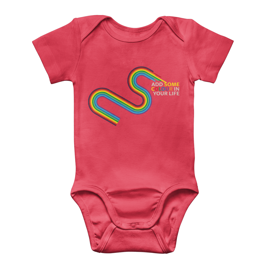 Add some colour to your life Classic Baby Onesie Bodysuit