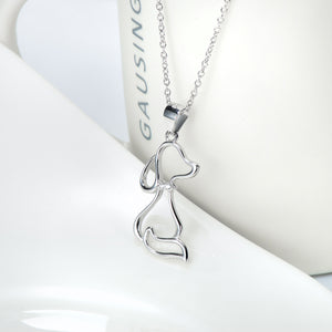 Puppy Pendant 925 Pure Silver Necklace