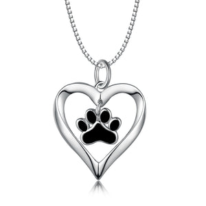 Paw Print 925 Sterling Silver Necklace
