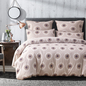 90gsm Microfiber Geometric Printed Duvet Cover 3Pcs Set