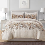 Elegant Floral Print 3 Pcs Duvet Cover Set With Pillow Case