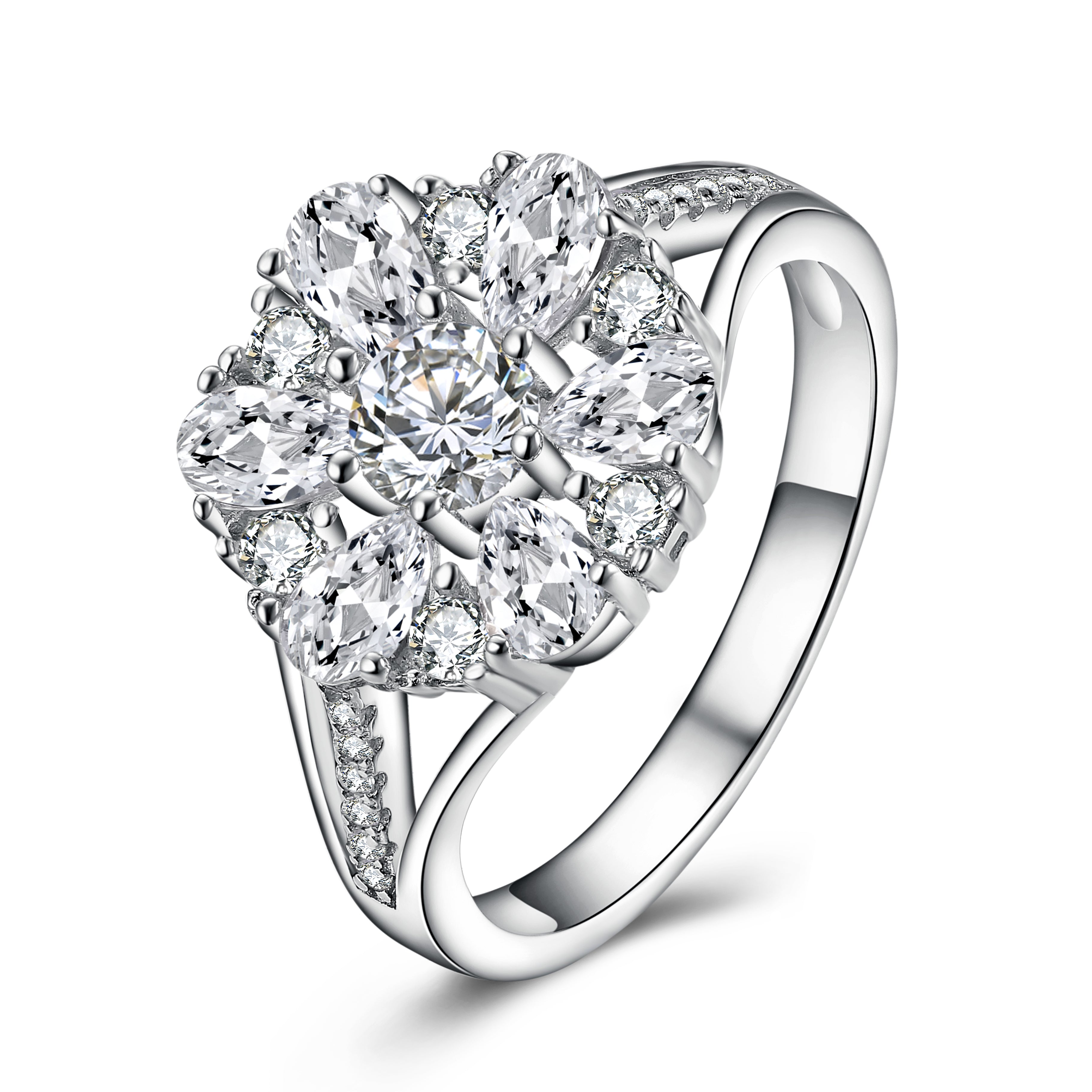 Diamond Studded  925 Silver Ring