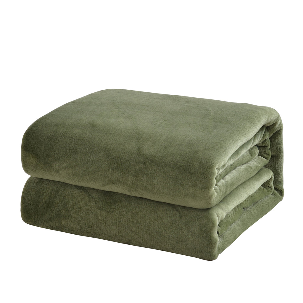 Latest Hot Sale Solid Color Light Weight Flannel Blanket