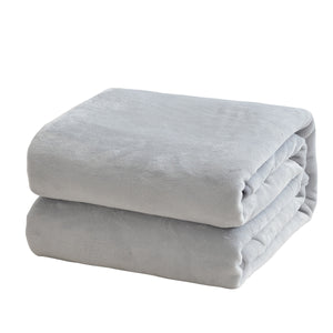 Flannel Ultra Soft Blanket Light Grey Fleeceblanket