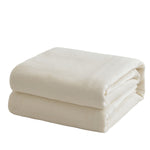Creamy Blanket Solid Color Flano Fleece Blanket
