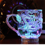 Water Activated Unique Design Dragon LED Flashing Cup