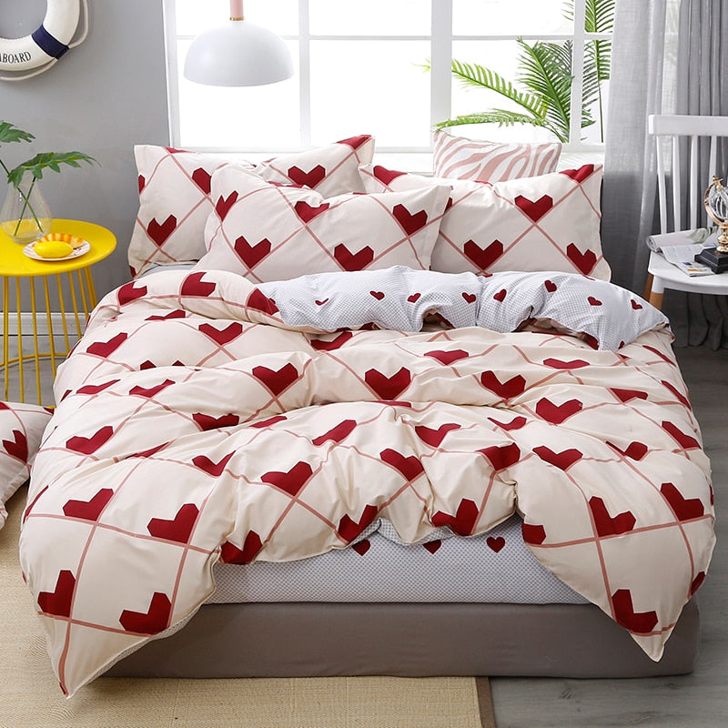 Timbaba™ Homes love Family Set Sheet Duvet