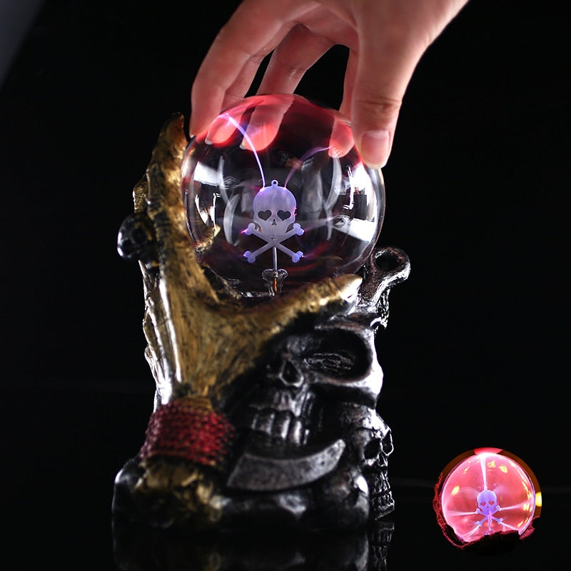 Sphere- Halloween Skull Crystal Globe Plasma lighting Ball