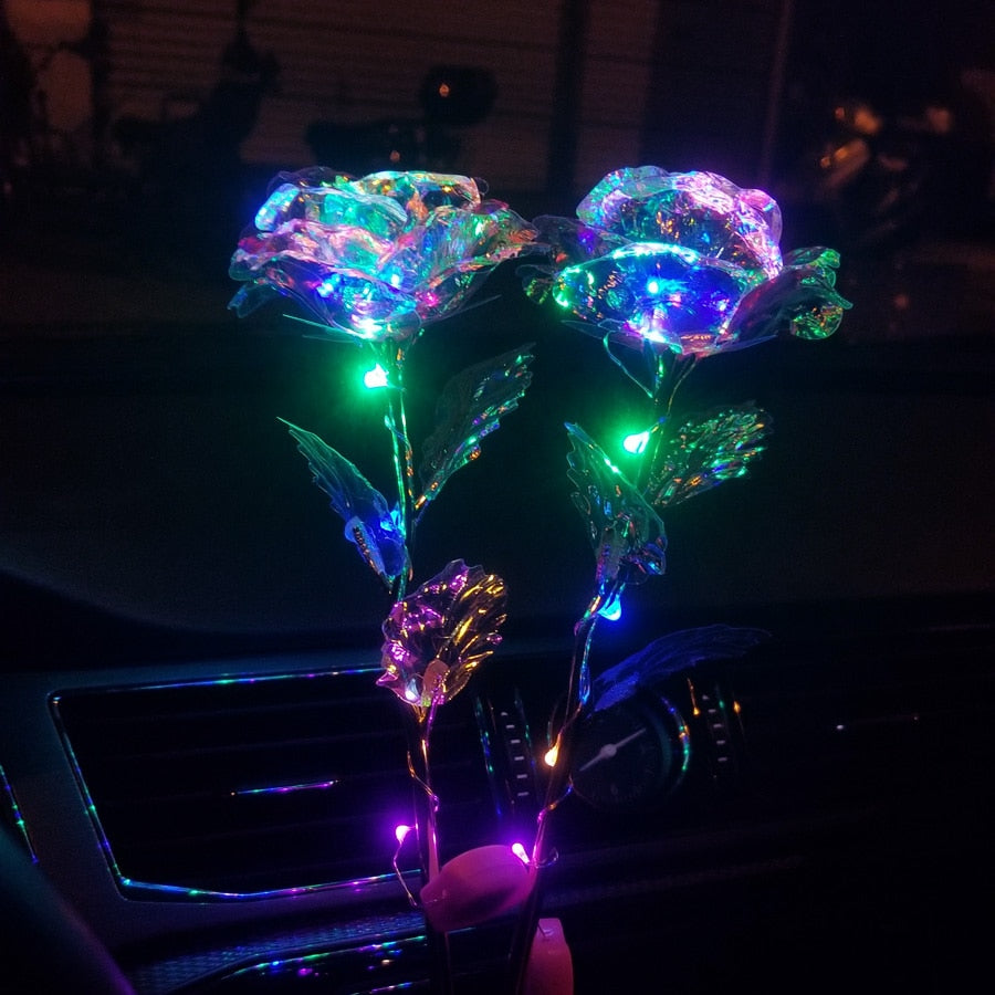 Romantic Colorful LED Fairy Rose Artificial Flower