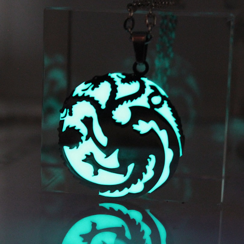 Dragon Glow Necklace & Keychain Stainless Steel