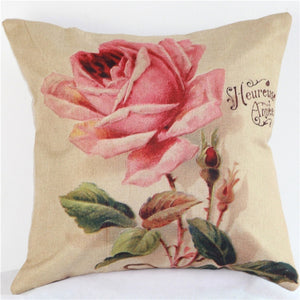 Luxury Vintage Decorative Home, Office, Car Cotton Linen Cushion Cover