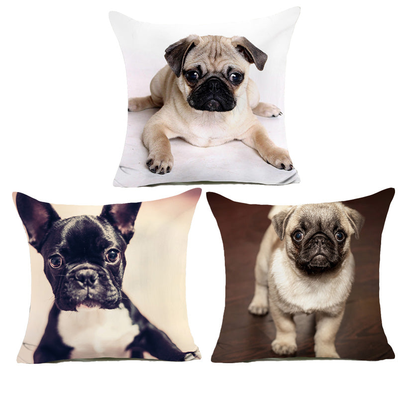 Beautiful Pug Cushion Cover