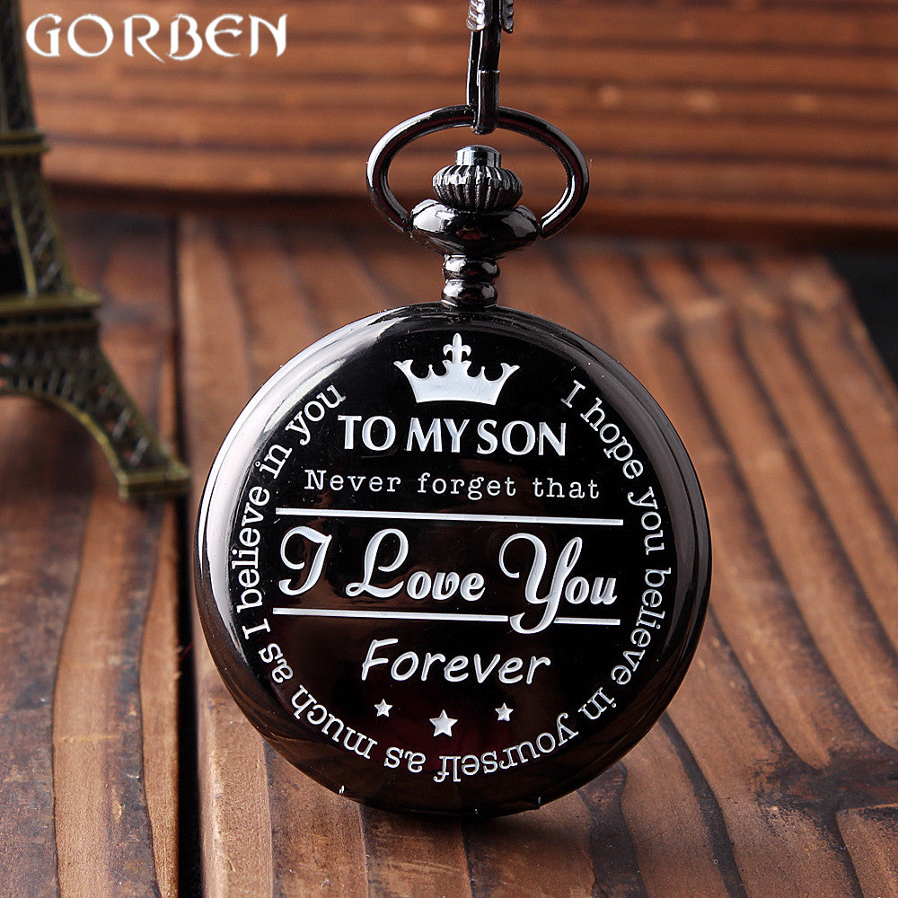SON, I LOVE YOU POCKET WATCH GIFT