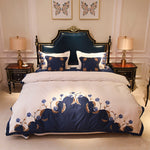 Royal Garden Luxury European, Amercian- Egypt Cotton Embroidery Bedding set