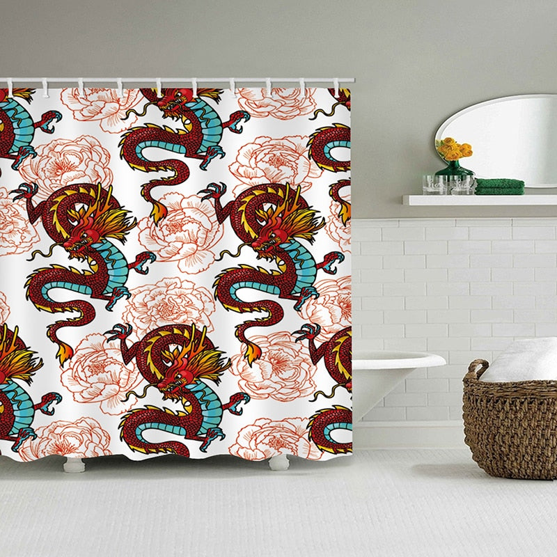 Luxury Dragon Shower Curtain