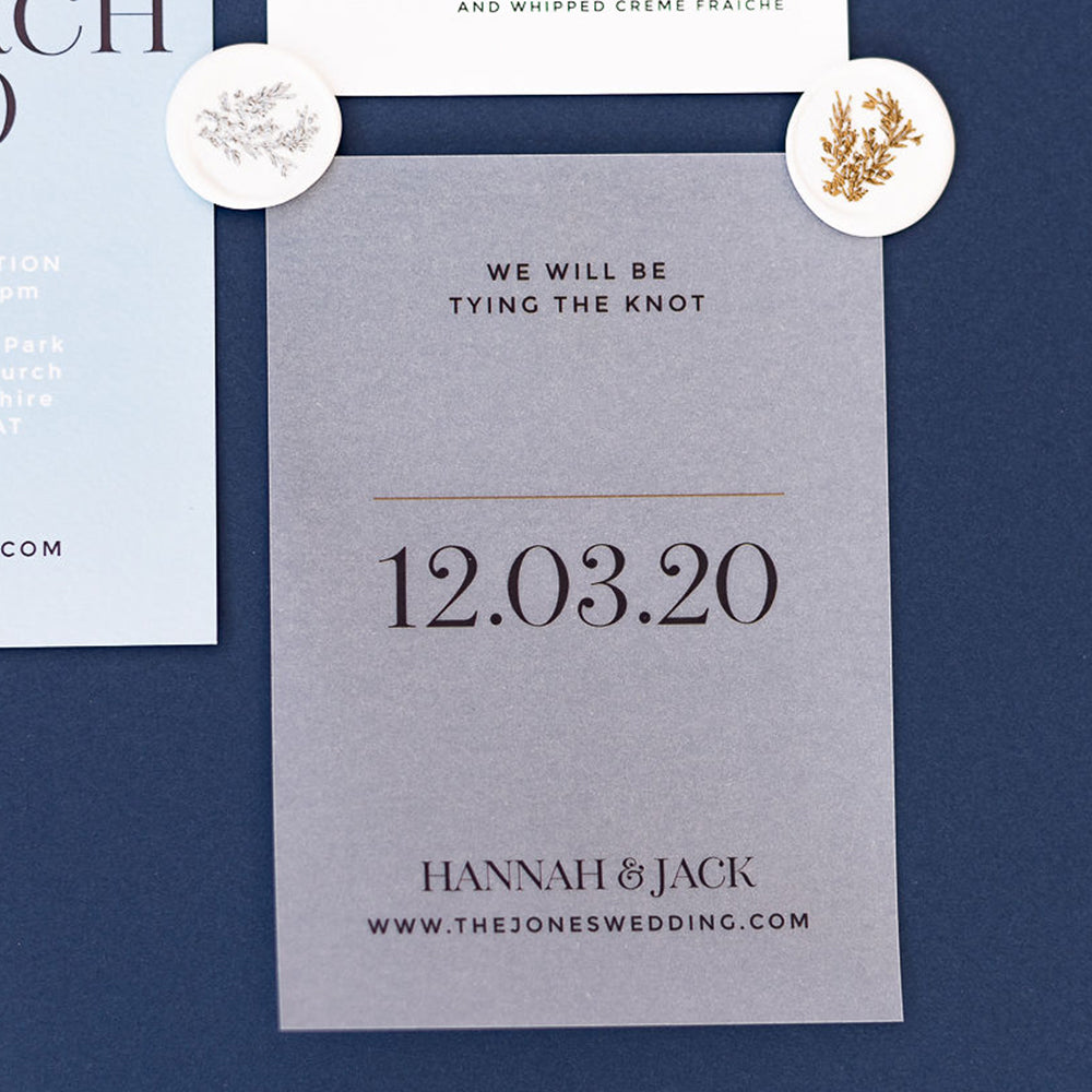 Vellum Clear Save the Date