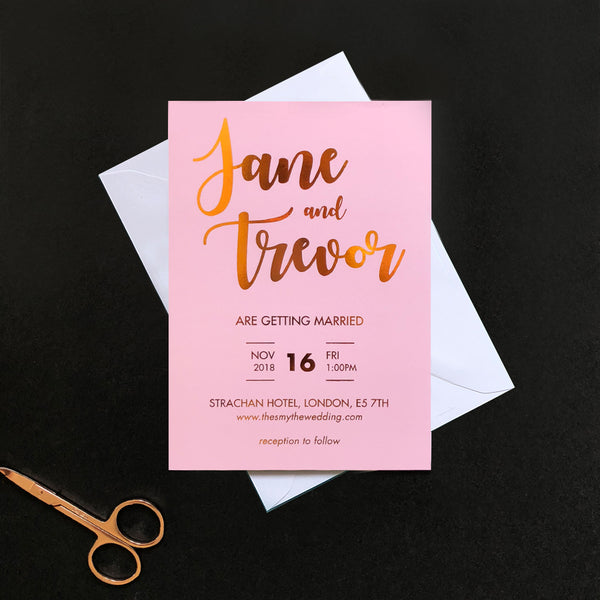 The Blush Collection Invitation