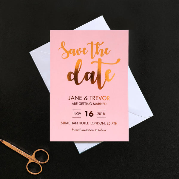 Rose Gold Foil Save the Date | Blush Collection