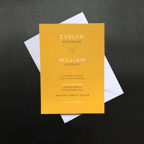 Mustard Yellow Invitation