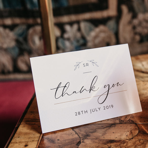 Wedding Thank You Personalised Card