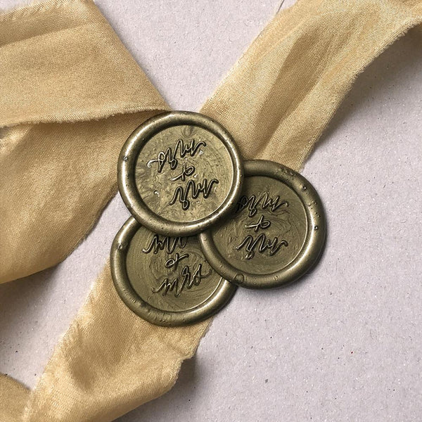 Mr & Mrs Wax Seal Stickers
