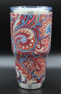 30 Ounce Red Paisley Tumbler