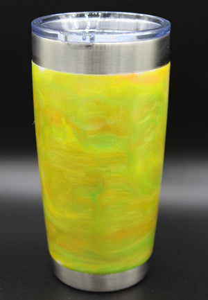 20 Ounce Green, Yellow and Orange Swirl