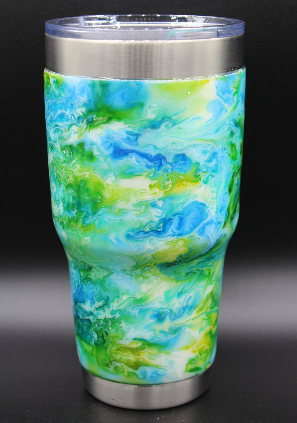 30 Ounce Blue and Green Swirl