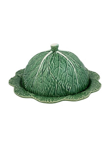 Bordallo Pinheiro Cabbage Lidded Cheese Tray