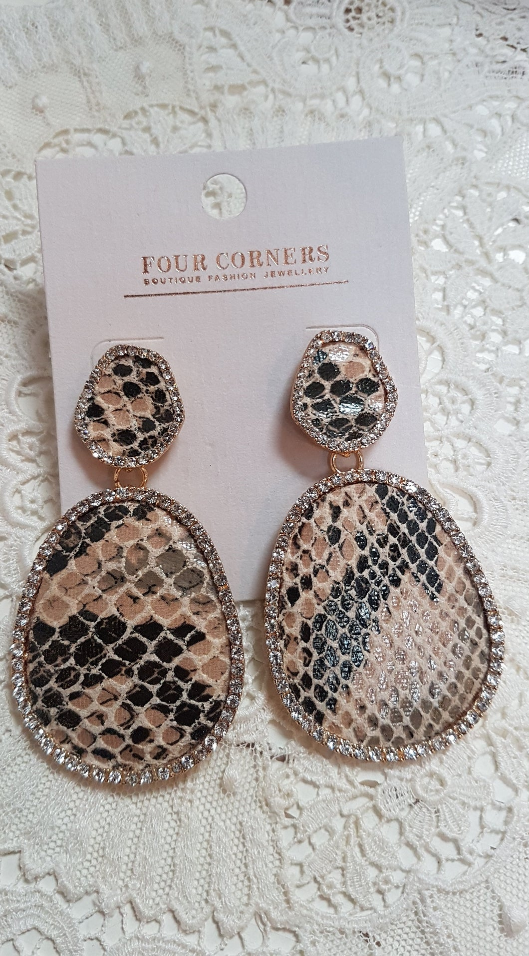 Snakeskin Earrings by Four Corners