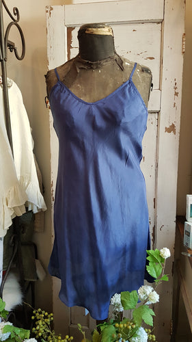 Pure Silk Royal Blue Slip