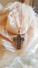 Load image into Gallery viewer, Simply Italian Crystal Cross Necklace