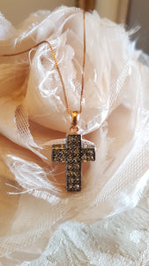 Simply Italian Crystal Cross Necklace