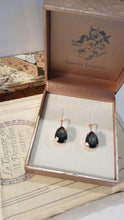 Load image into Gallery viewer, Smokey Blue Crystal Drop Earrings by Simply Italian