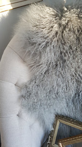 Tibetan Lamb Hide - Dove Grey