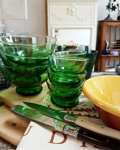Green Glass Bowl - Last One