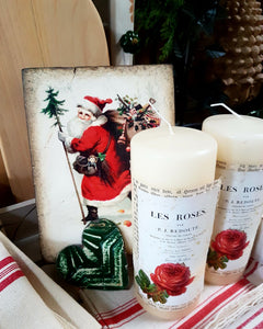 Jeanne d'Arc Living Rose Pillar Candle