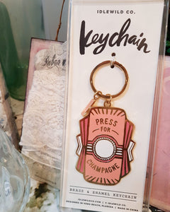 Press for Champagne Key Ring
