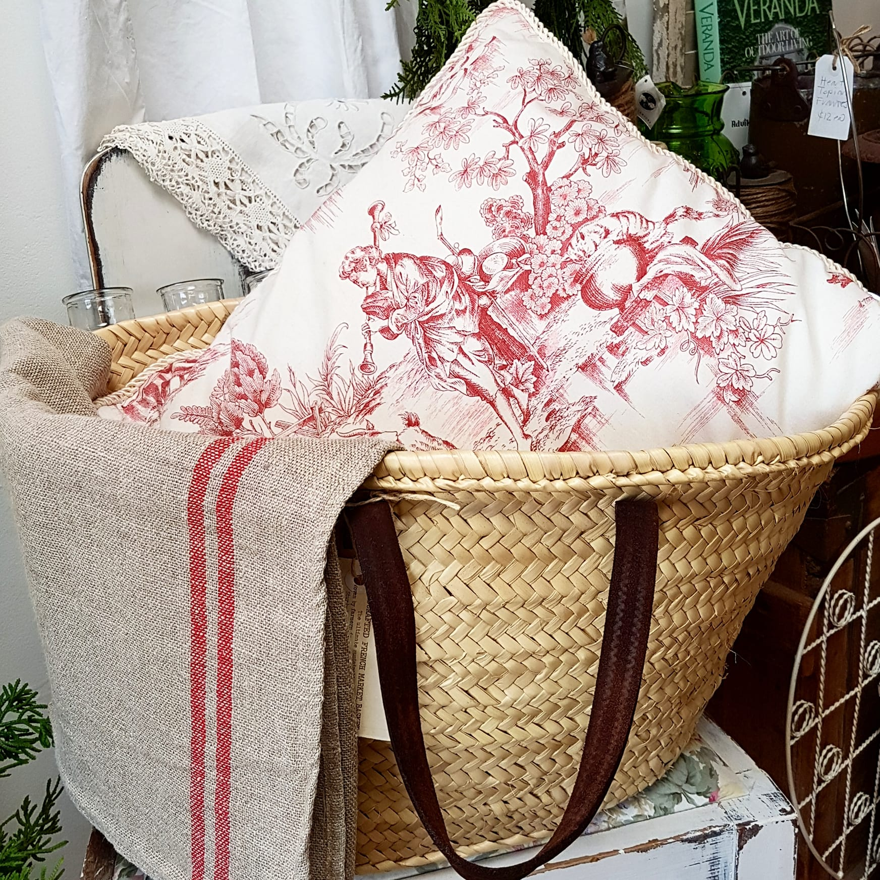 French Toile Cushion